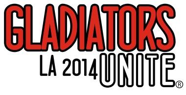 GLADIATORSunite Event Logo - LA 2014 Stacked